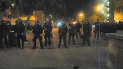 Protester shot by cops at Occupy Oakland General Strike