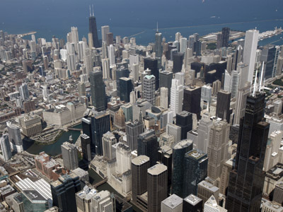 A view of the Chicago skyline (Reuters / John Gress)