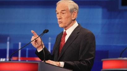 Republican presidential candidate U.S. Rep. Ron Paul  (AFP Photo / Scott Olson)