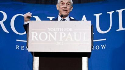 Republican Presidential hopeful U.S. Rep. Ron Paul (R-TX) speaks during a town hall meeting at the University of Maryland on March 28, 2012 in College Park, Maryland (T.J. Kirkpatrick/Getty Images/AFP)