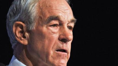 US Republican presidential hopeful Rep. Ron Paul (AFP Photo / Nicholas Kamm)