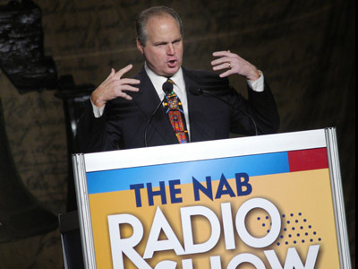 Radio talk show host Rush Limbaugh (William Thomas Cain/Getty Images/AFP)