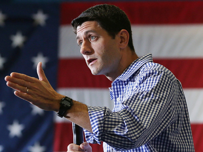 Republican vice presidential candidate Rep. Paul Ryan (AFP Photo / Mark Wilson)