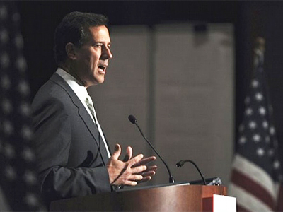 Republican presidential candidate, former Pennsylvania  Sen. Rick Santorum (AFP Photo / Getty Images)