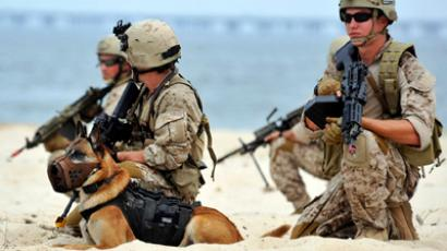 Navy SEAL platoon (AFP Photo / US Navy / Robert Fluegel / Handout)