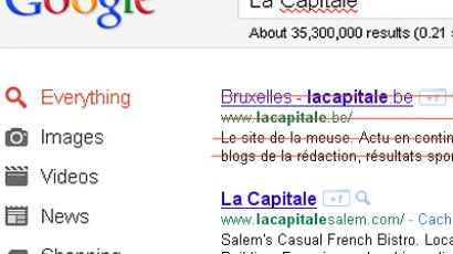 Google is showing some Belgian newspapers who the boss of the Web is.