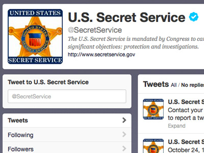 Image from US Secret Service Twitter feed