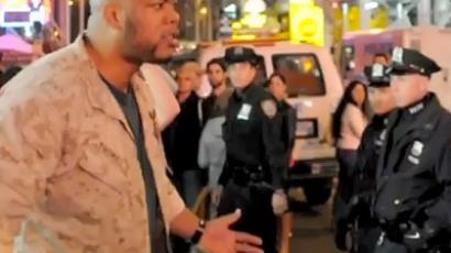 US marine defends OWS protesters against police brutality