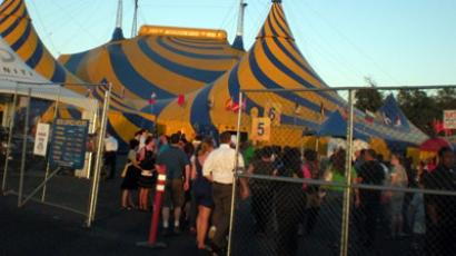 Suck du Solei: border agents accused of sex act while in circus show crowd