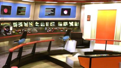 The flight deck of the Starship Enterprise (AFP Photo)