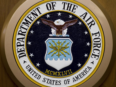 The Department of the Air Force logo  (AFP Photo/Paul J. Richards)