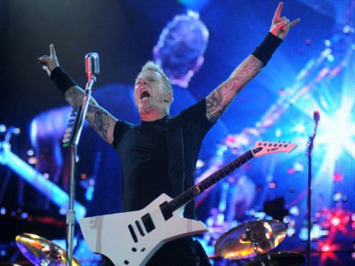 James Hetfield, the singer and guitarist for heavy rock band Metallica (AFP Photo / Andre Durao)
