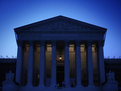 An exterior view of the U.S. Supreme is seen June 25, 2012 in Washington, DC. (Alex Wong/Getty Images/AFP)
