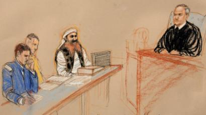 Khalid Sheikh Mohammed, (2nd R) the alleged mastermind of the September 11 attacks. (Reuters)