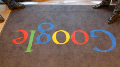 A Google carpet is seen at the entrance of the new headquarters of Google (REUTERS/Jacques Brinon/Pool )