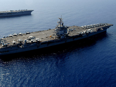 USS Dwight D. Eisenhower (AFP Photo/US NAVY/HO/Rob Gaston)