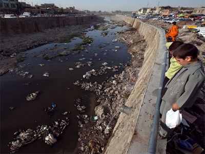 A river of the same name flows through Kabul. The same stream is the city's main gutter. (Photo by Ilya Varlamov)