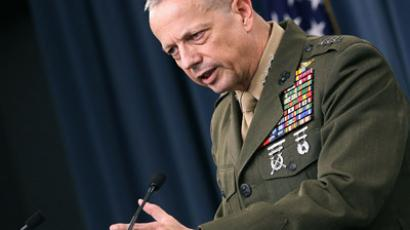 Commander, International Security and Assistance Force (ISAF) U.S. Marine Corp. Gen. John Allen (Mark Wilson/Getty Images/AFP)