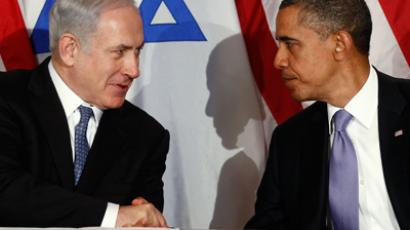 Obama meets Netanyahu at the United Nations in New York on September 21, 2011 (Reuters / Kevin Lamarque)