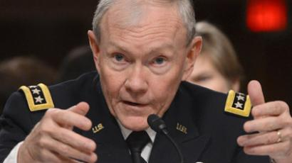 US Chairman of the Joint Chiefs Martin Dempsey (AFP Photo/Saul Loeb)