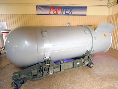 A B53 bomb is seen in this handout taken October 19, 2011 and released October 20, 2011.(Reuters / Handout)