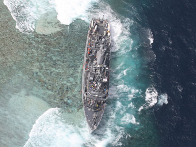 US Navy fined for 'illegal entry' at Philippines coral reef