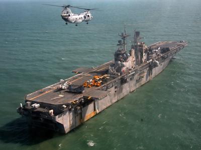 USS Iwo Jima (Reuters / Ranu Abhelakh)