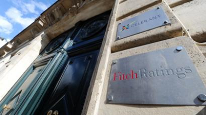 A picture shows the entrance of Fitch ratings agency (AFP Photo / Miguel Medina)