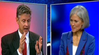 Libertarian Party presidential candidate Gary Johnson and Green Party presidential candidate Jill Stein.