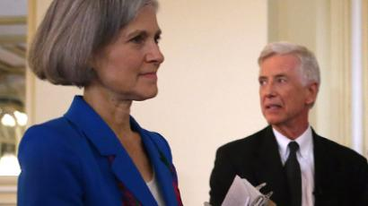 Presidential candidates Jill Stein of the Green Party and Rocky Anderson of the Justice Party. (AFP Photo / Scott Olson)