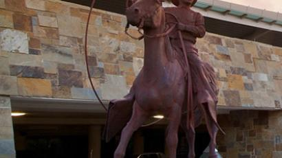 Statue of Will Rogers at Will Rogers World Airport (Image from flyokc.com)