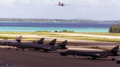 US Bombers on Diego Garcia island
