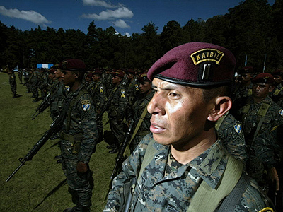 Guatemalan soldiers of the Kaibiles Unit (AFP Photo / Jose Cabezas)