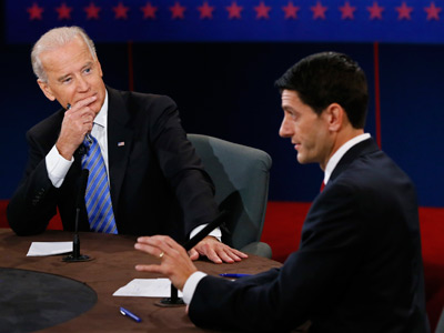 Big theatrics, little difference: Biden and Ryan take hawkish line in VP debate
