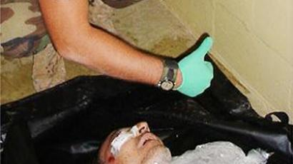 "The infamous ""Ice Man"" photo of dead detainee Manadel al-Jamadi escalated a scandal surrounding operations at Abu Gharib."
