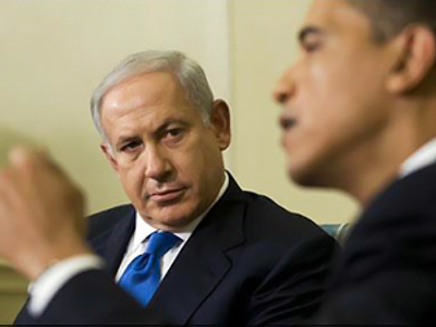 Benjamin Netanyahu (L) and Barack Obama