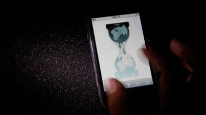 The logo of the Wikileaks website is pictured on a smartphone.(REUTERS / Toru Hanai)