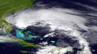 This October 26, 2012 GOES -East satellite image courtesy of NOAA shows Hurricane Sandy. (AFP Photo)