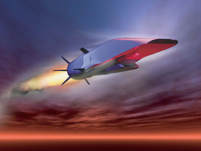 Graphic shows the X-51A Waverider as it is set to demonstrate hypersonic flight (AFP Photo / US Air Force)