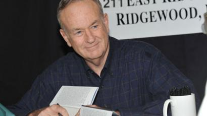"Television host/author Bill O'Reilly promotes ""Killing Lincoln: The Shocking Assassination That Changed America Forever"" at Bookends Bookstore.(AFP Photo / Mike Coppola)"