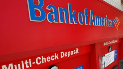 An ATM machine at a Bank of America office is pictured in Burbank, California (Burbank/Fred Prouser)