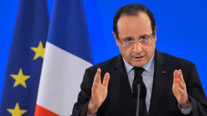 French President Francois Hollande.(AFP Photo / Thierry Zoccolan)