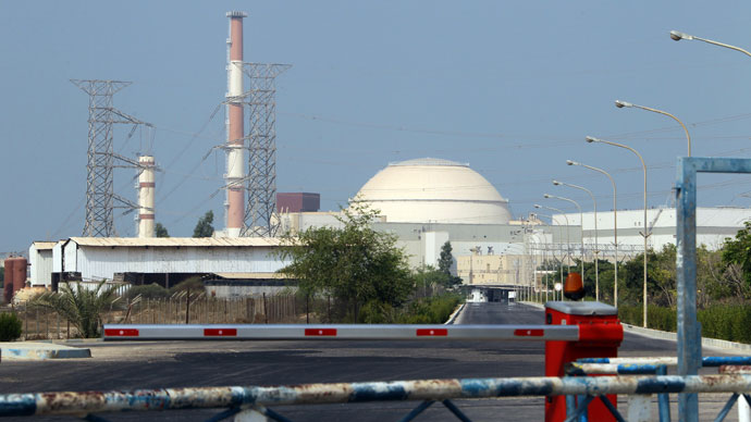 A general view shows the reactor building at the Bushehr nuclear power plant in southern Iran, 1200 kms south of Tehran, on August 20, 2010. After decades of delay and sanctions, Iran will launch.(AFP Photo / Atta Kenare)