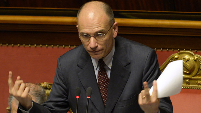Itlay's new Prime Minister Enrico Letta (AFP Photo)