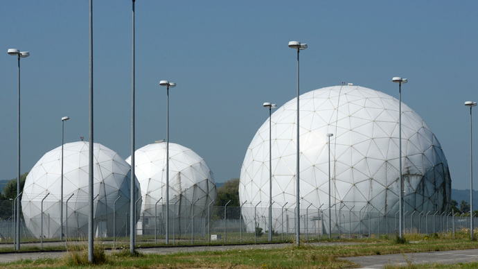 Radomes stand on the former monitoring base of the U.S. intelligence organization National Security Agency (NSA) in Bad Aibling, near Rosenheim, southern Germany (AFP Photo)