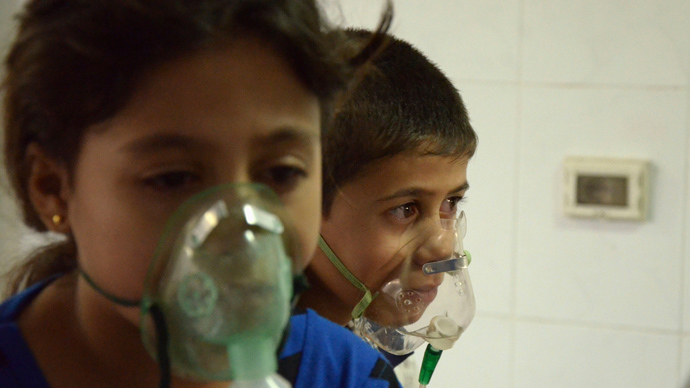 Children in Syria chemical attack video 'moved between locations' before 'staged' filming
