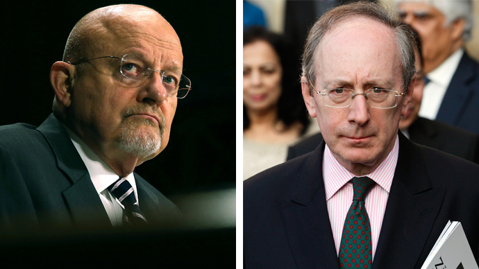 James Clapper (left) and Malcolm Rifkind (AFP Photo / Mark Wilson / Justin Tallis)