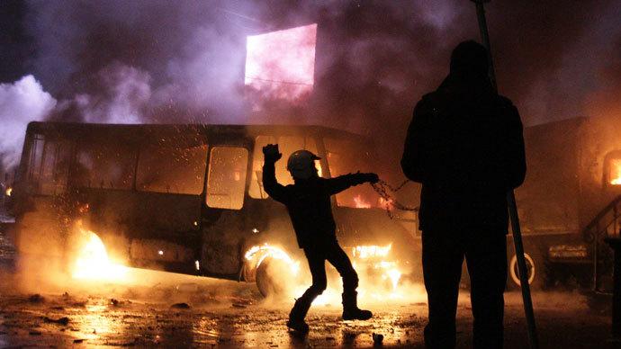 Kiev, January 19, 2014.(AFP Photo / Anatolii Boiko)