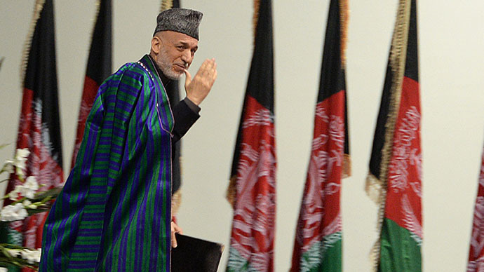 Afghan President Hamid Karzai (AFP Photo / Massoud Hossaini)