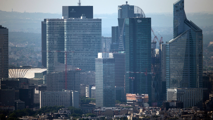 General view of the business district of La Defense, near Paris. (AFP Photo / Fred Dufour)